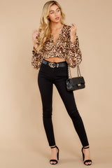 2 Wild Thing Gold Leopard Print Top at reddressboutique.com