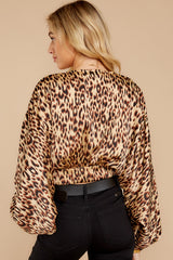 8 Wild Thing Gold Leopard Print Top at reddressboutique.com