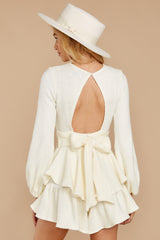 8 Right Impression White Sweater Romper at reddressboutique.com