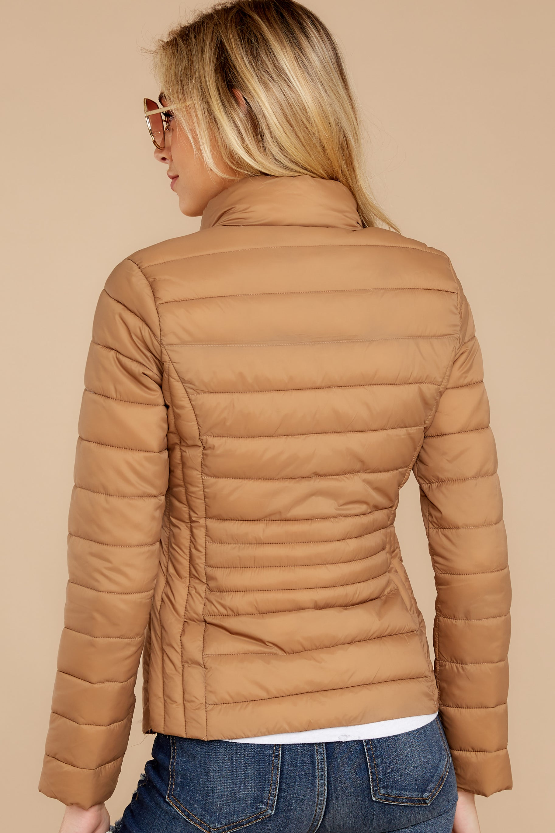 Weather Or Not Camel Puffer Jacket