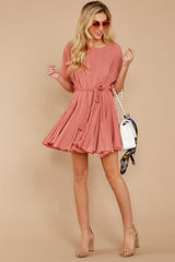 2 Inner Circle Pink Polka Dot Dress at reddressboutique.com