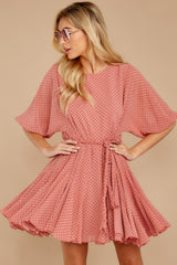 5 Inner Circle Pink Polka Dot Dress at reddressboutique.com