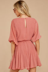 7 Inner Circle Pink Polka Dot Dress at reddressboutique.com