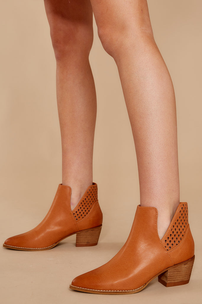 1 City Girl Light Taupe Ankle Boots at reddressboutique.com