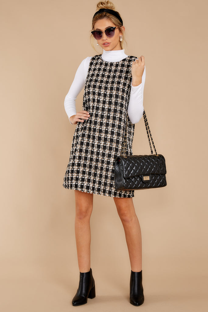 1 It's Up To You Black And White Tweed Dress at reddress.com