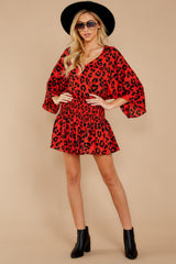 1 Such A Charmer Red Leopard Print Dress at reddressboutique.com