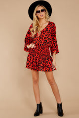 4 Such A Charmer Red Leopard Print Dress at reddressboutique.com