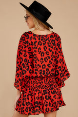 8 Such A Charmer Red Leopard Print Dress at reddressboutique.com