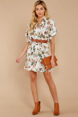 1 I Got You Ivory Floral Print Dress at reddressboutique.com