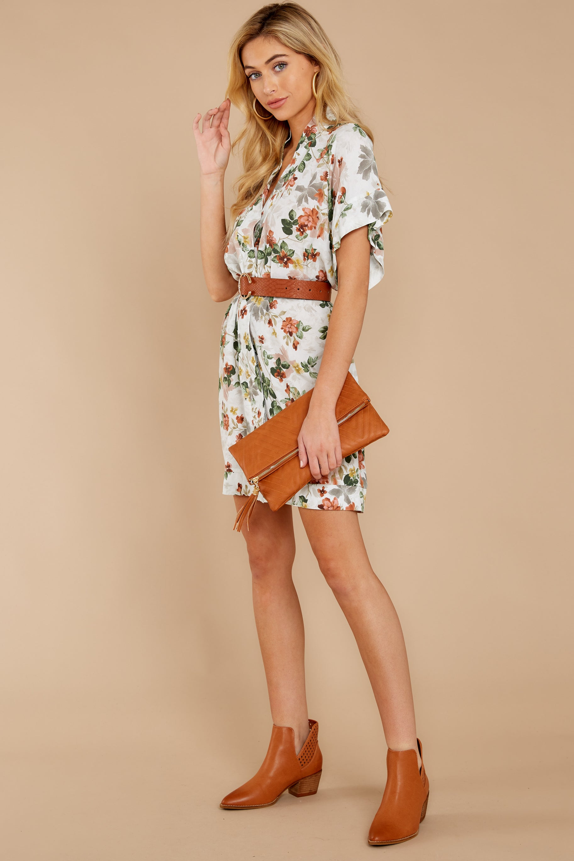 3 I Got You Ivory Floral Print Dress at reddressboutique.com