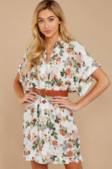4 I Got You Ivory Floral Print Dress at reddressboutique.com