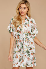 7 I Got You Ivory Floral Print Dress at reddressboutique.com