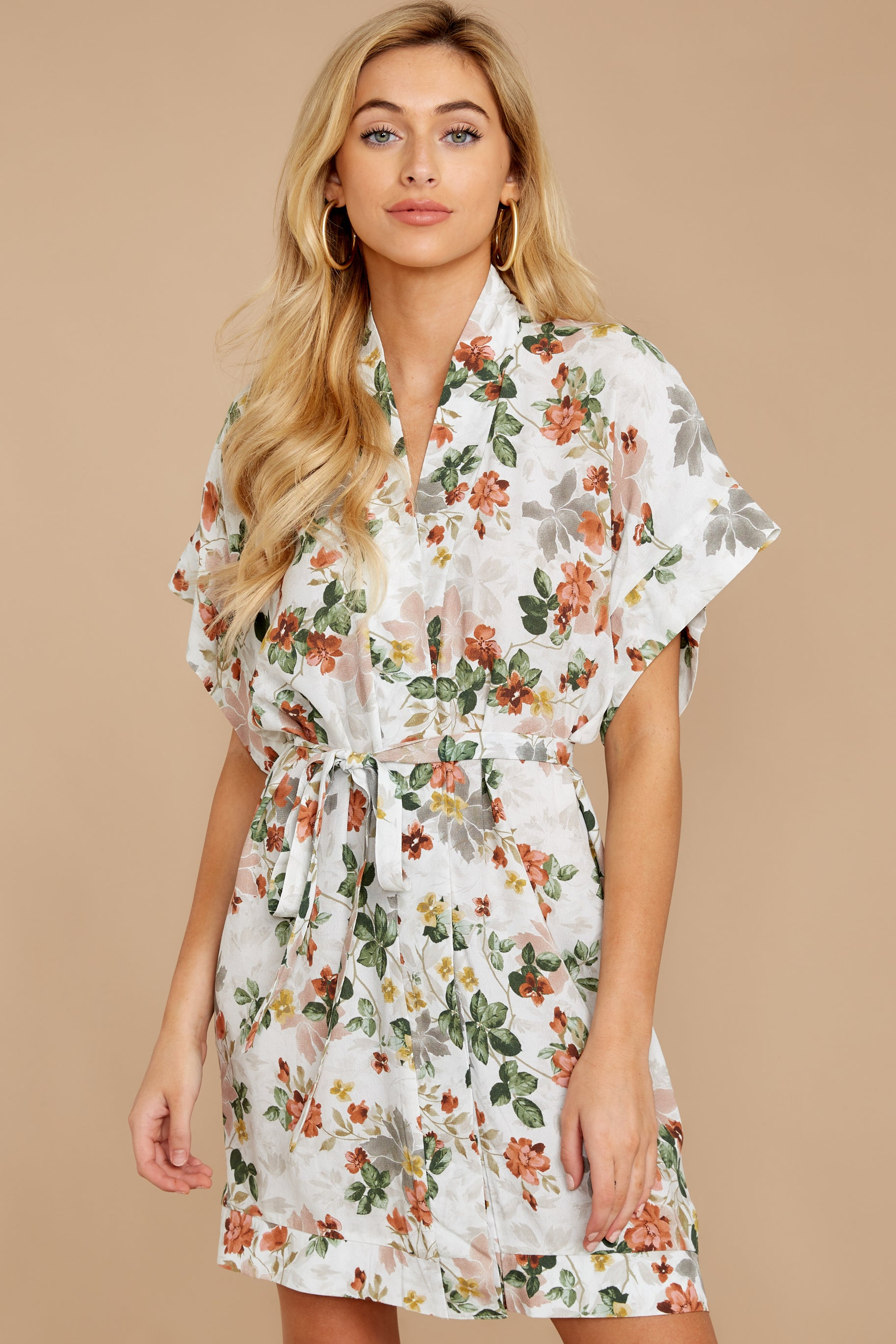 6 I Got You Ivory Floral Print Dress at reddressboutique.com