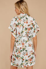 8 I Got You Ivory Floral Print Dress at reddressboutique.com