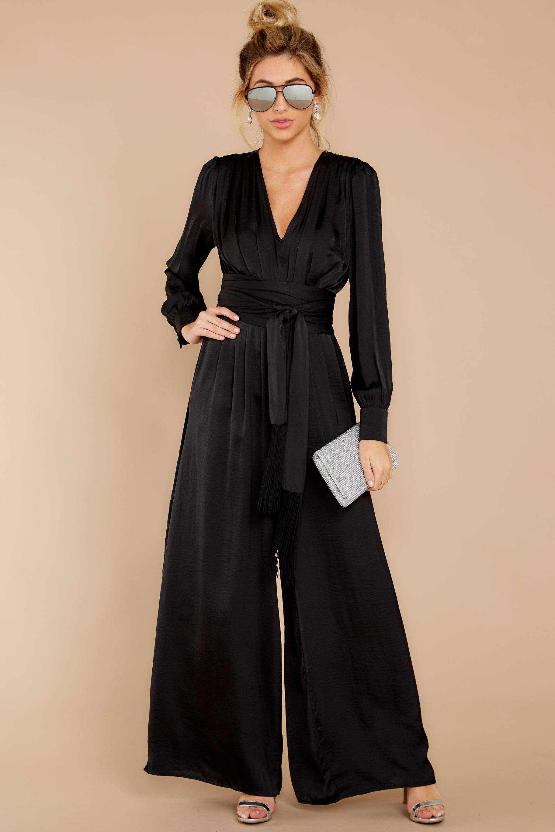 1 It's A Lifestyle Black Jumpsuit at reddressboutique.com
