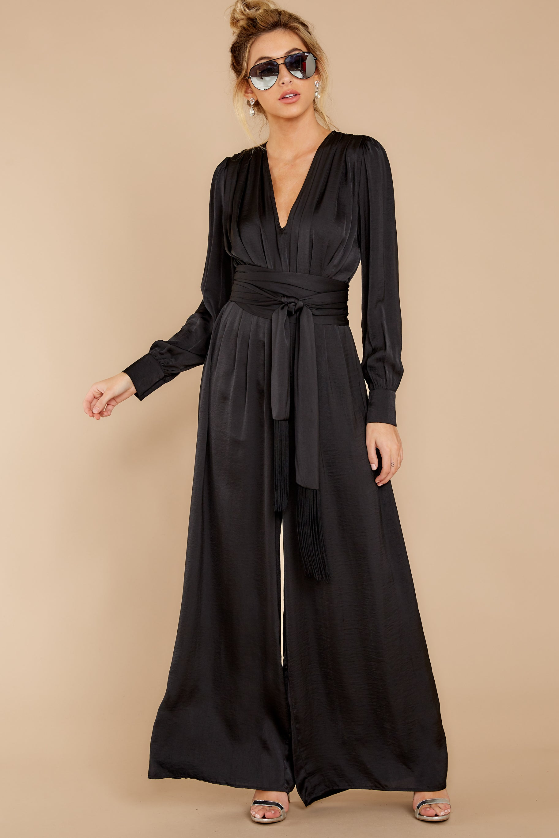 6 It's A Lifestyle Black Jumpsuit at reddressboutique.com
