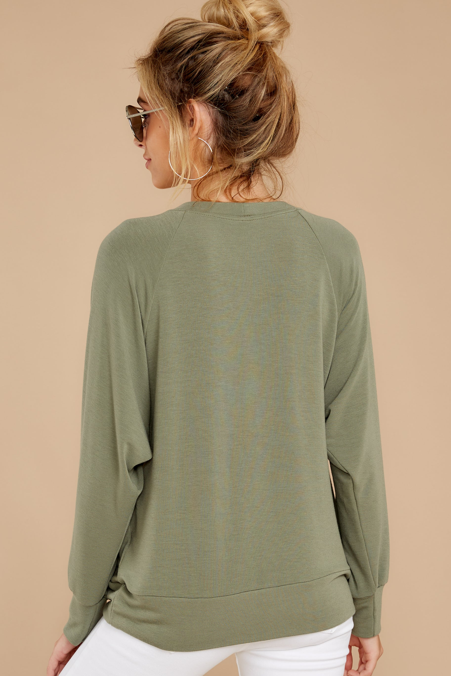 8 Take A Break Sage Green Sweater at reddressboutique.com