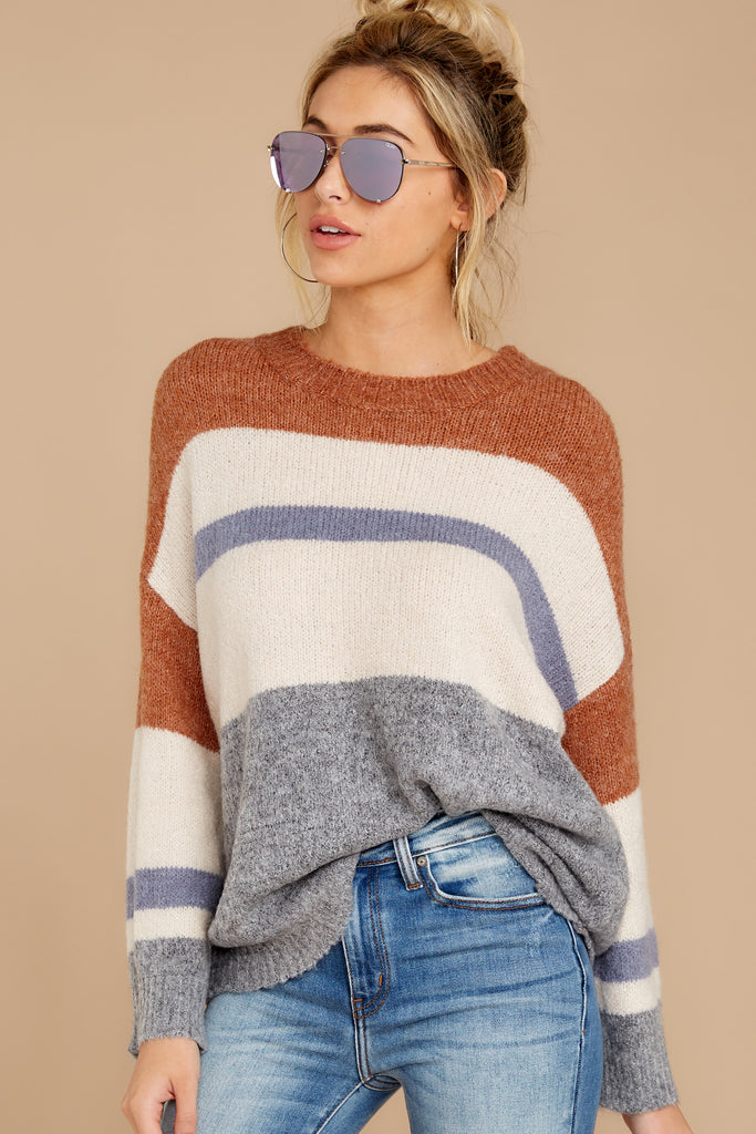 1 Back On Again Camel Sweater at reddress.com