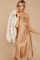 8 Smooth Talker Champagne Midi Dress at reddress.com