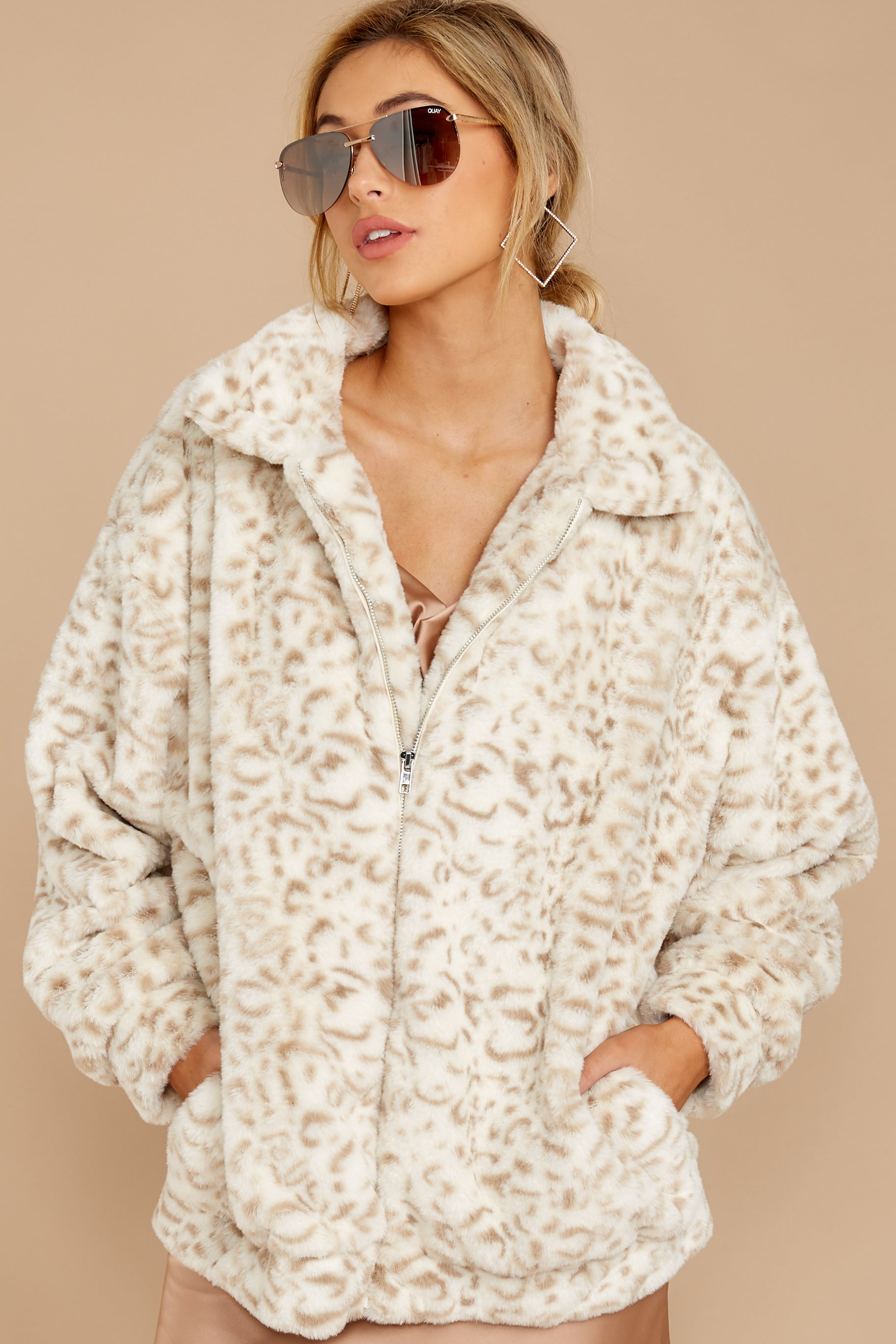 7 Born To Be Chill Ivory Leopard Print Jacket at reddressboutique.com