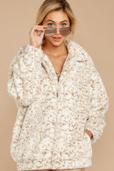 8 Born To Be Chill Ivory Leopard Print Jacket at reddressboutique.com