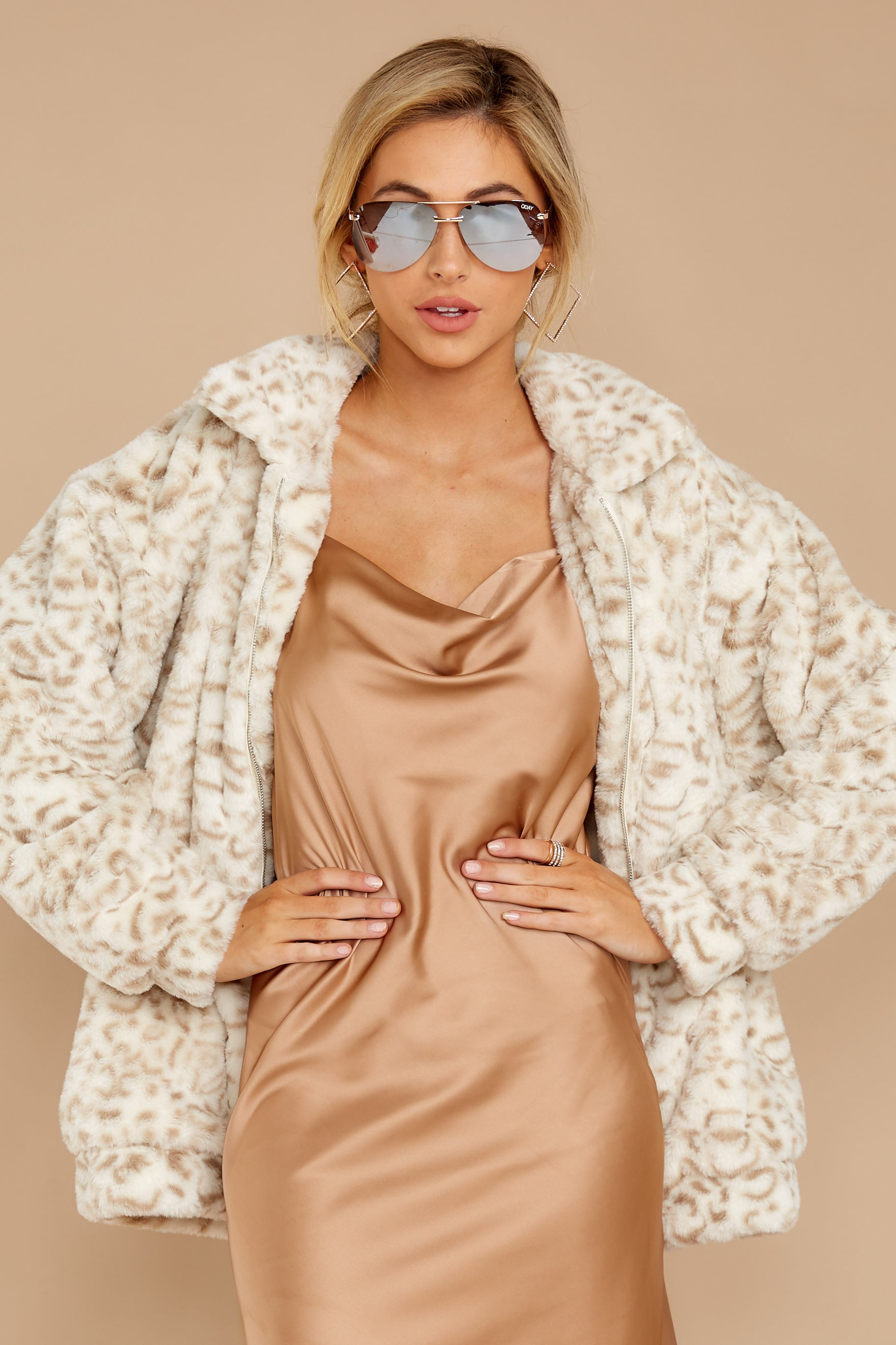 5 Born To Be Chill Ivory Leopard Print Jacket at reddressboutique.com