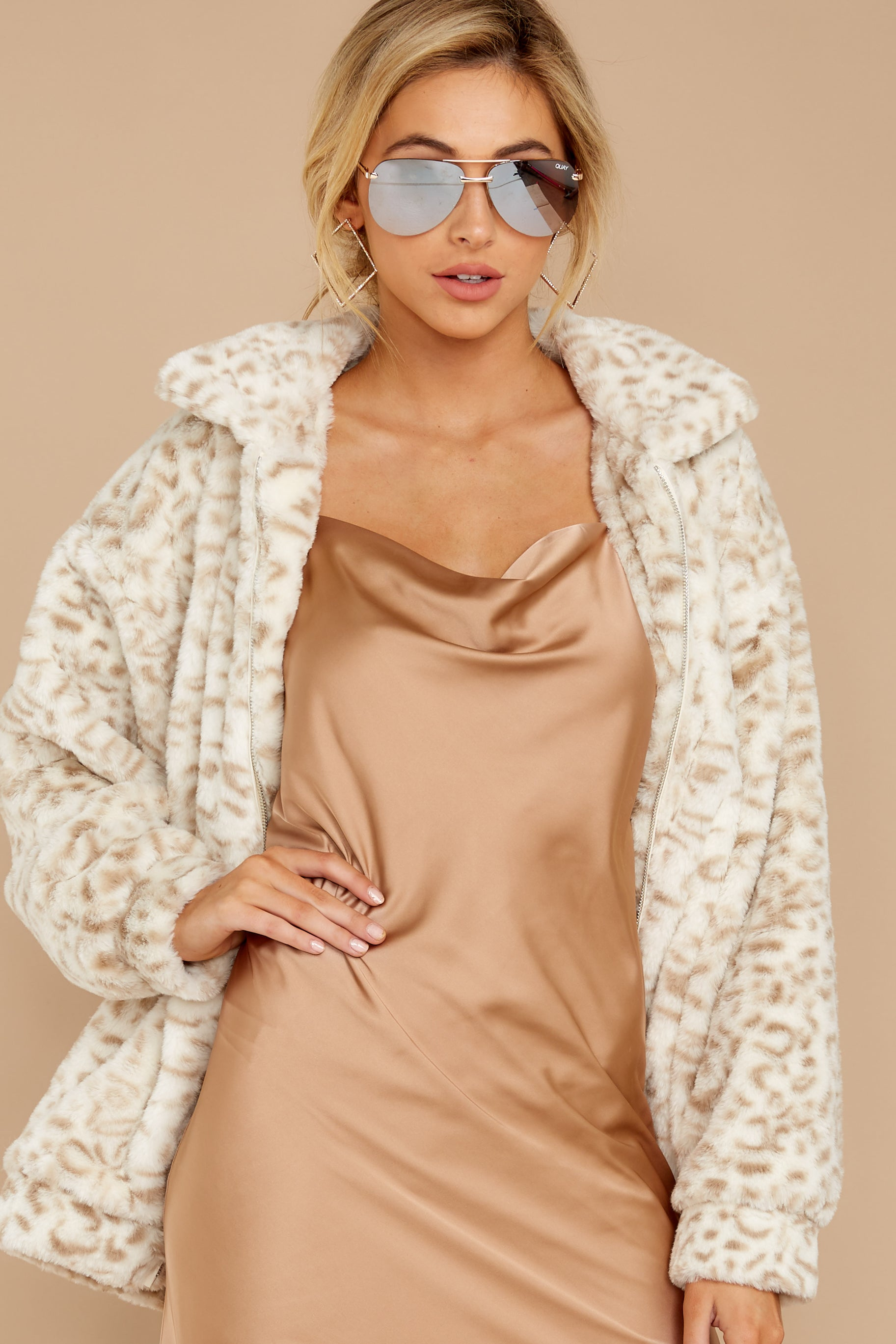 6 Born To Be Chill Ivory Leopard Print Jacket at reddressboutique.com