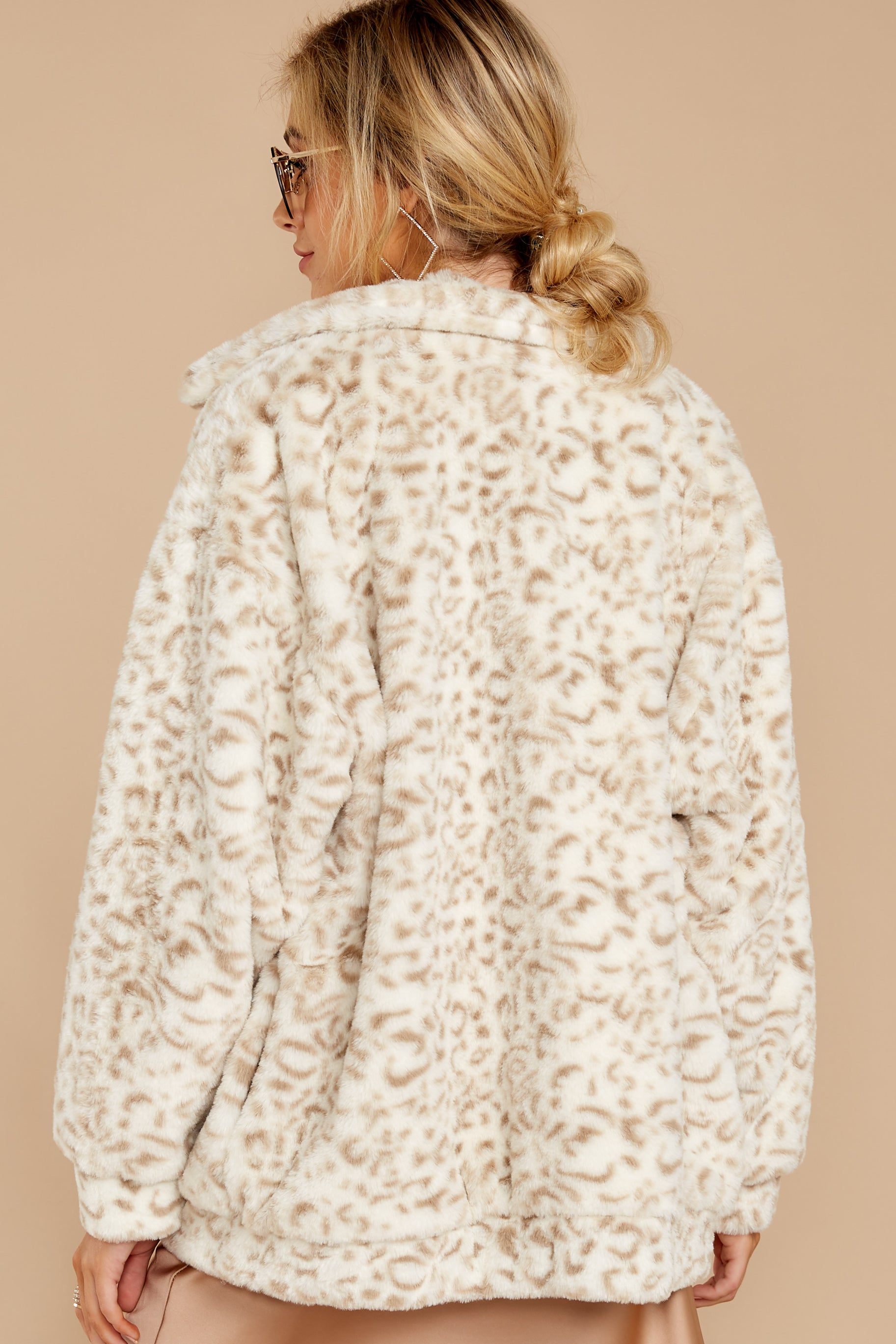 9 Born To Be Chill Ivory Leopard Print Jacket at reddressboutique.com