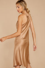 4 Smooth Talker Champagne Midi Dress at reddress.com