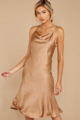 2 Smooth Talker Champagne Midi Dress at reddressboutique.com
