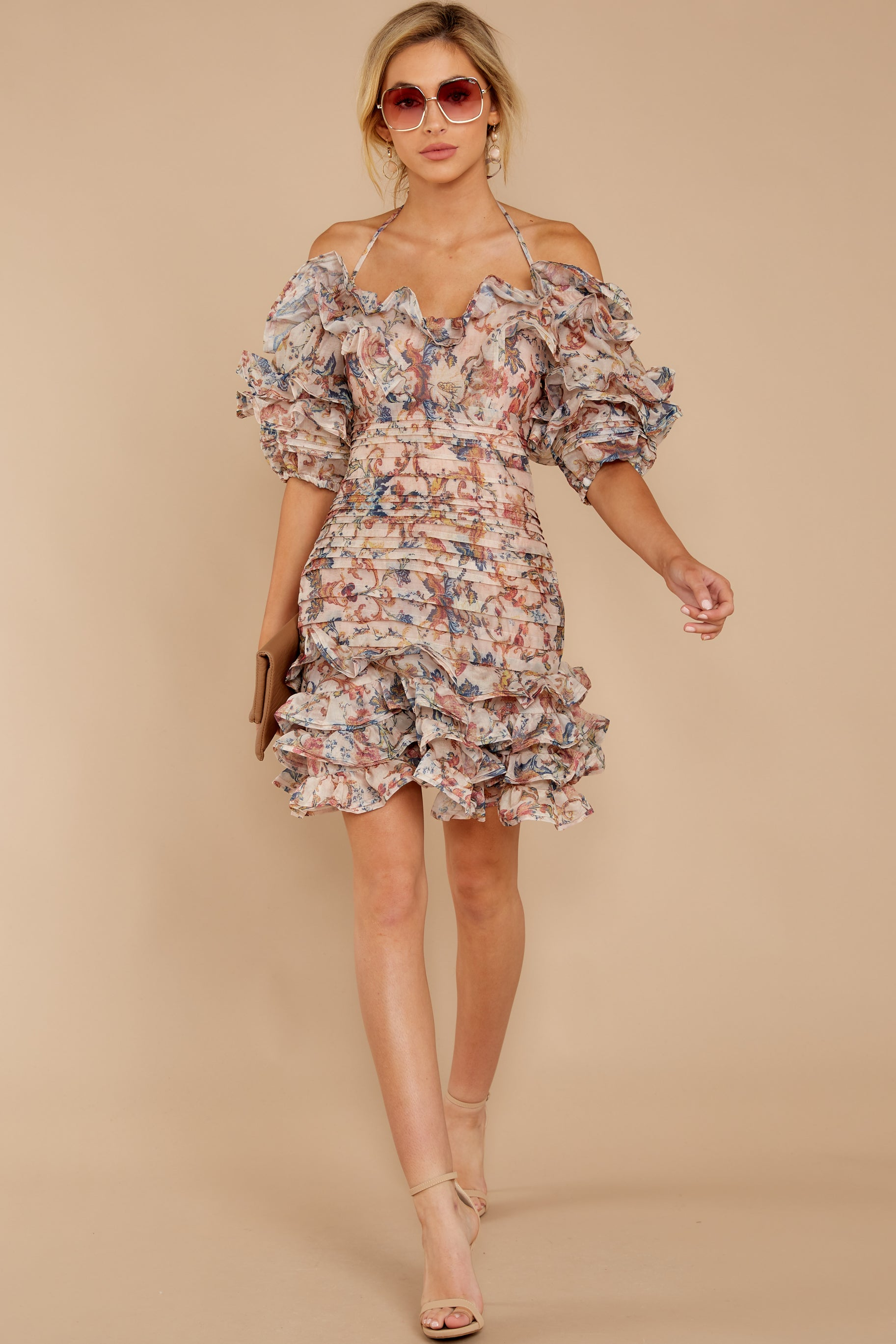 2 Attention Grabber Pink Floral Print Dress at reddressboutique.com