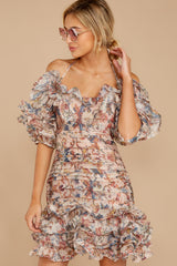 7 Attention Grabber Pink Floral Print Dress at reddressboutique.com
