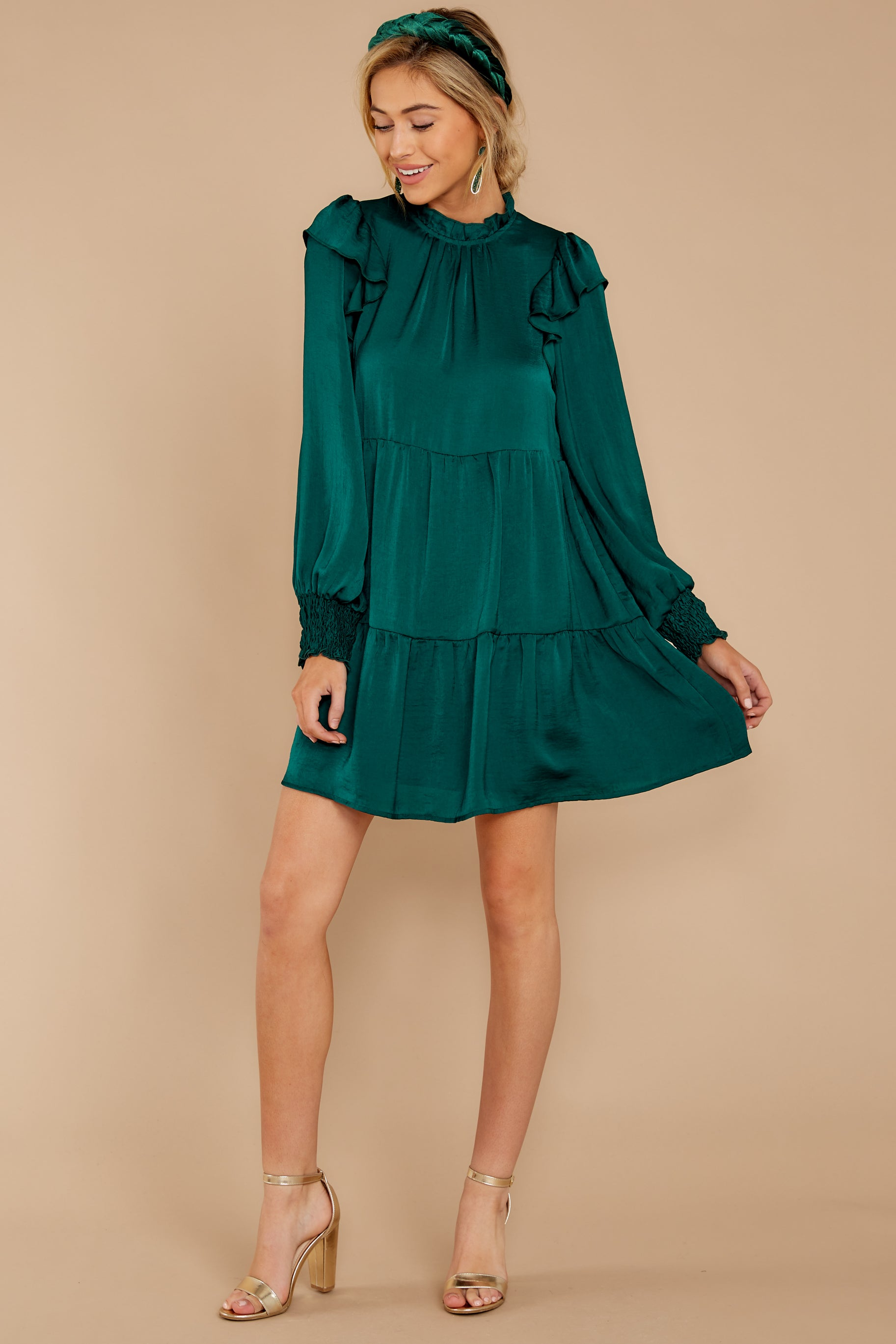 1 On My Level Emerald Green Dress at reddressboutique.com