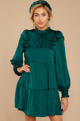 4 On My Level Emerald Green Dress at reddressboutique.com