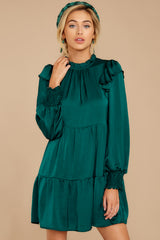 5 On My Level Emerald Green Dress at reddressboutique.com