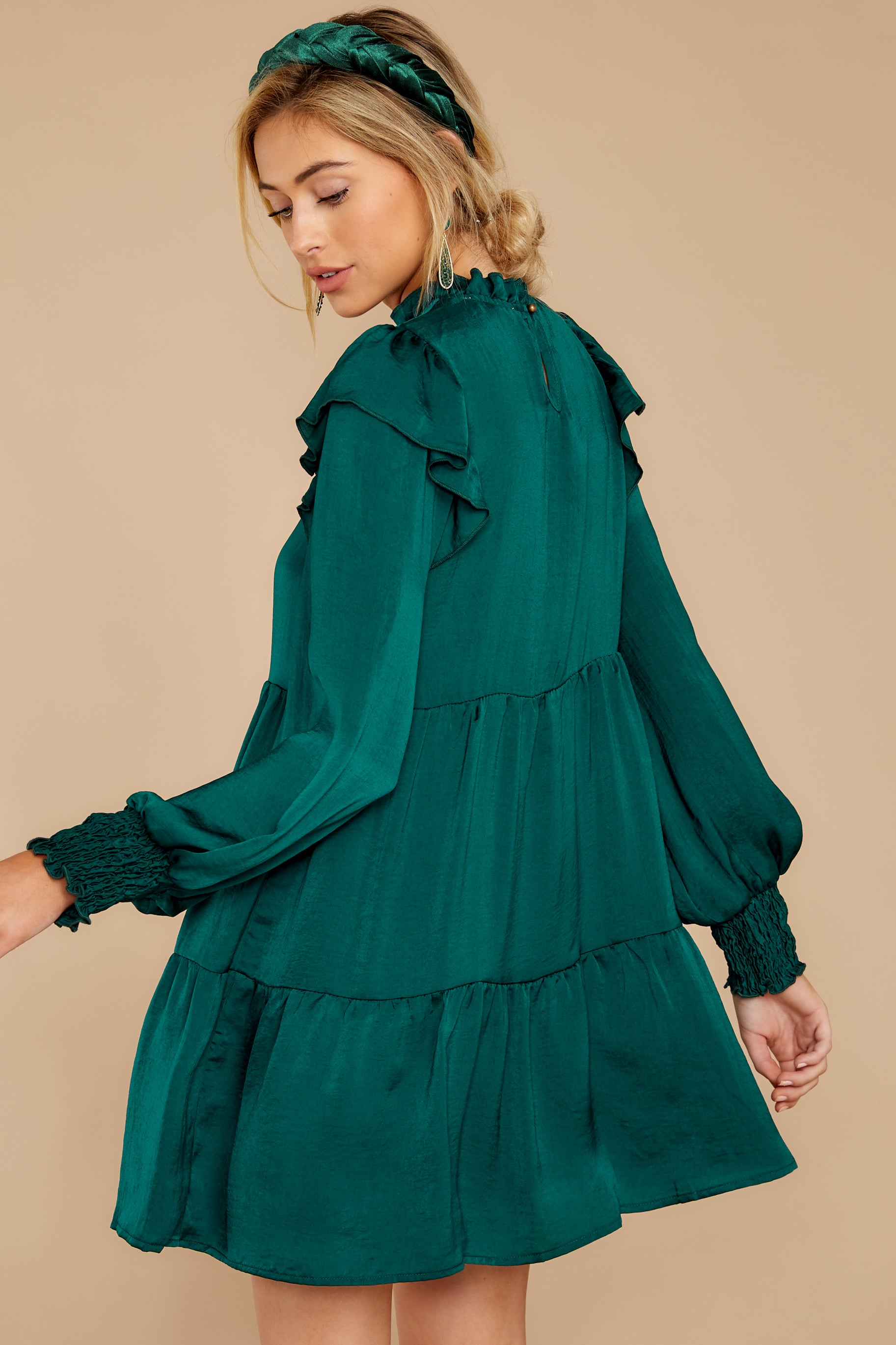 6 On My Level Emerald Green Dress at reddressboutique.com