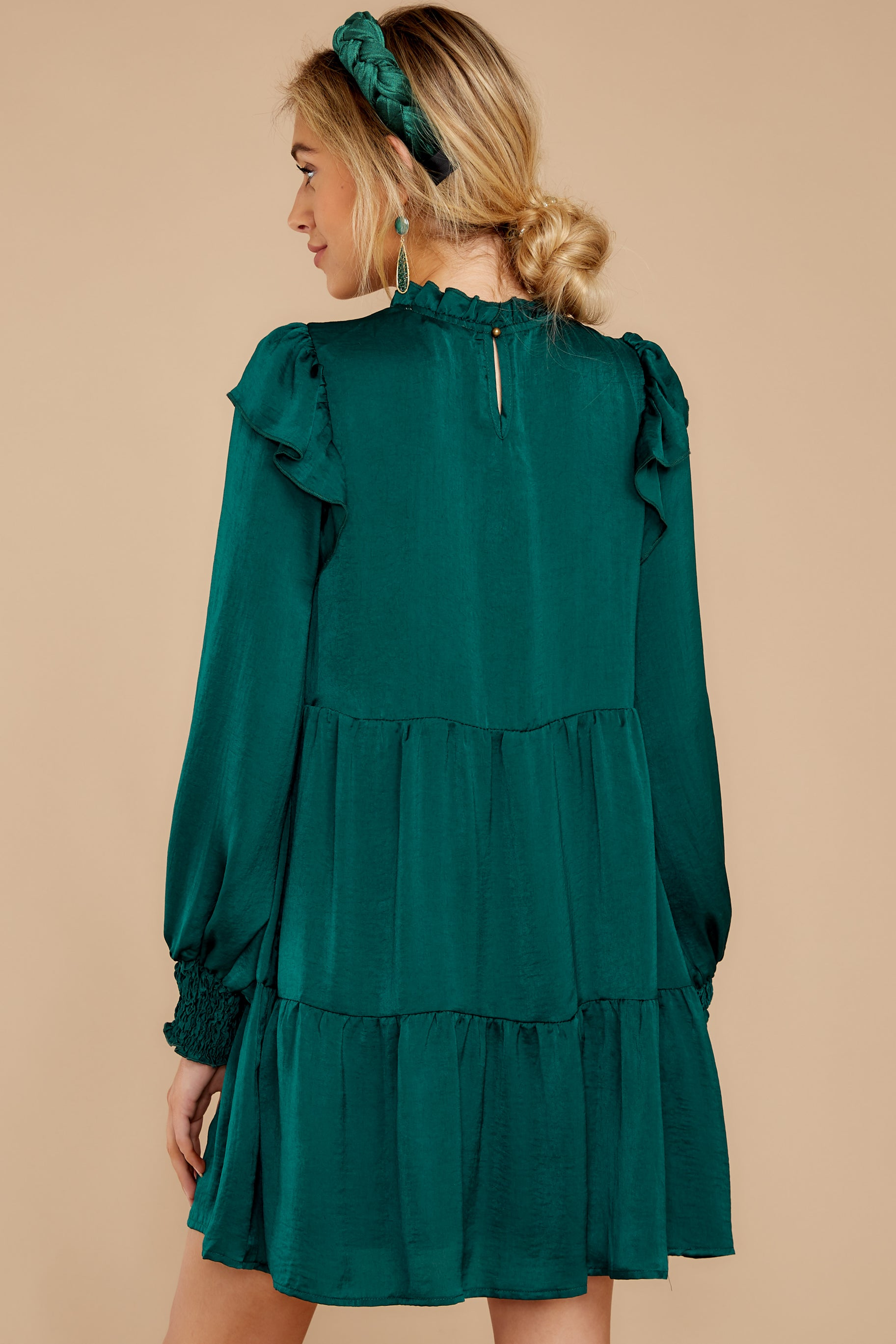 7 On My Level Emerald Green Dress at reddressboutique.com