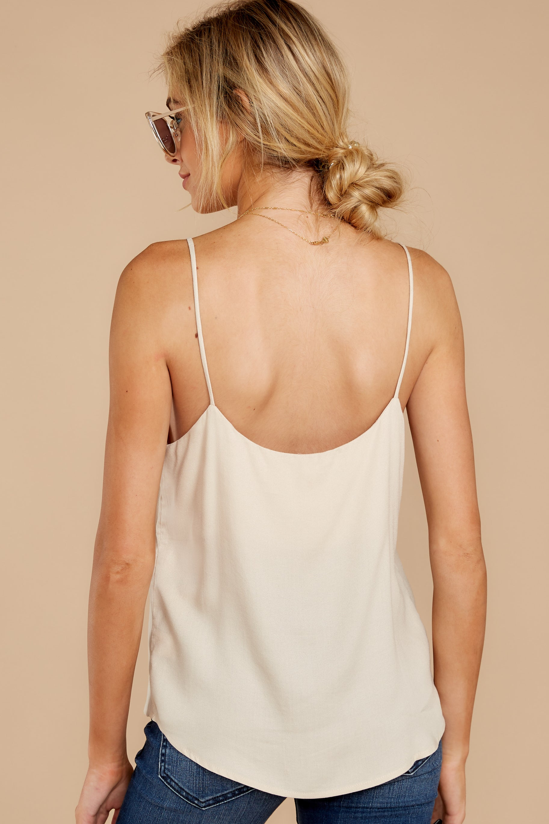 8 Closer Still Cream Tank Top at reddressboutique.com