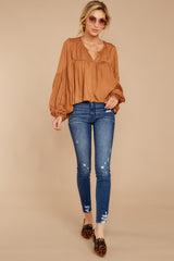 1 A Different Day Caramel Top at reddress.com