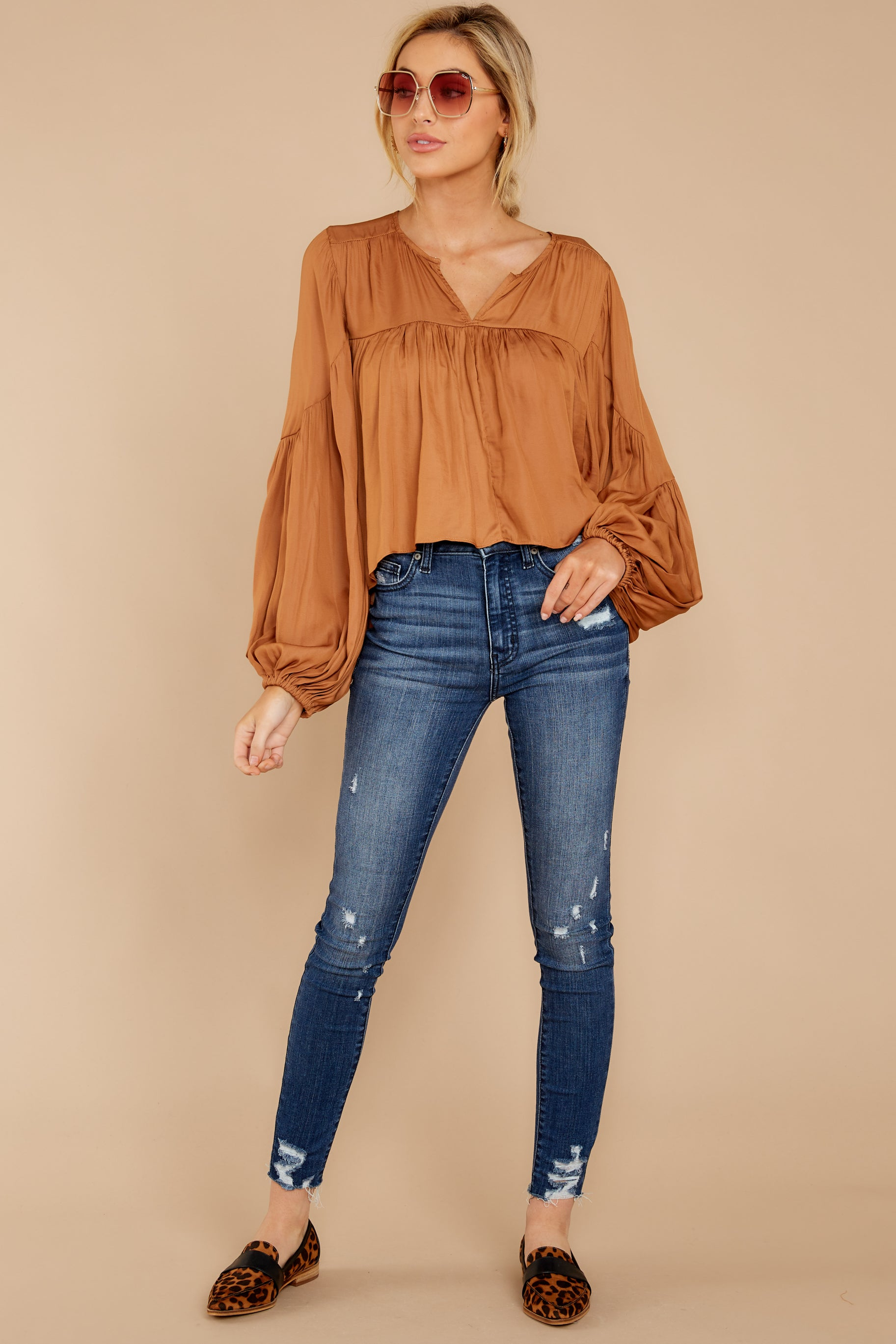2 A Different Day Caramel Top at reddress.com
