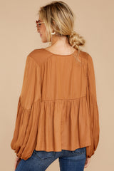 8 A Different Day Caramel Top at reddress.com