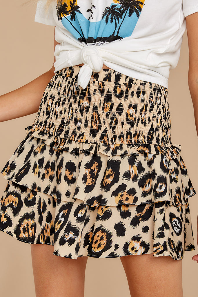 1 Loose In NYC Cheetah Print Skirt at reddressboutique.com