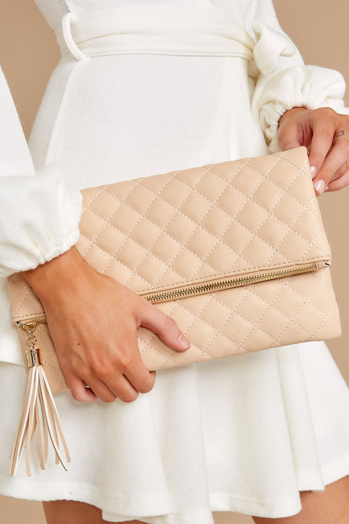 1 Totally Chic Nude Purse at reddressboutique.com