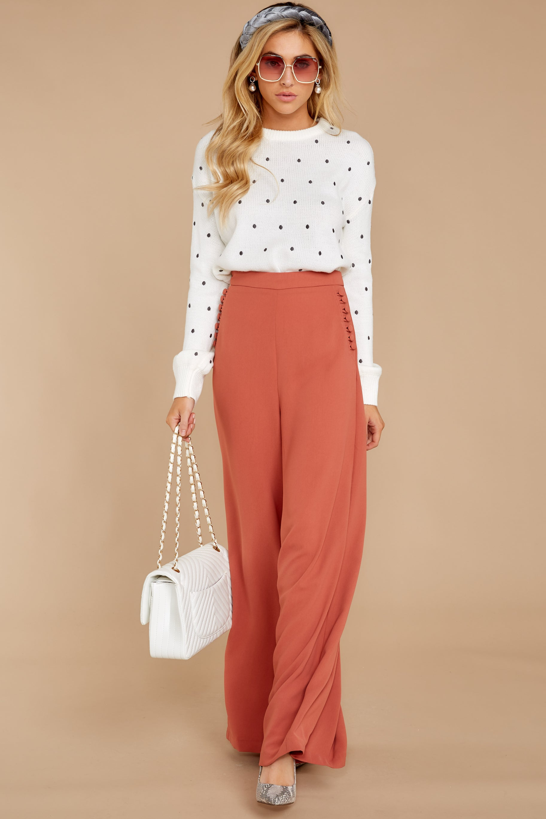 5 Chic Street Clay Pants at reddressboutique.com
