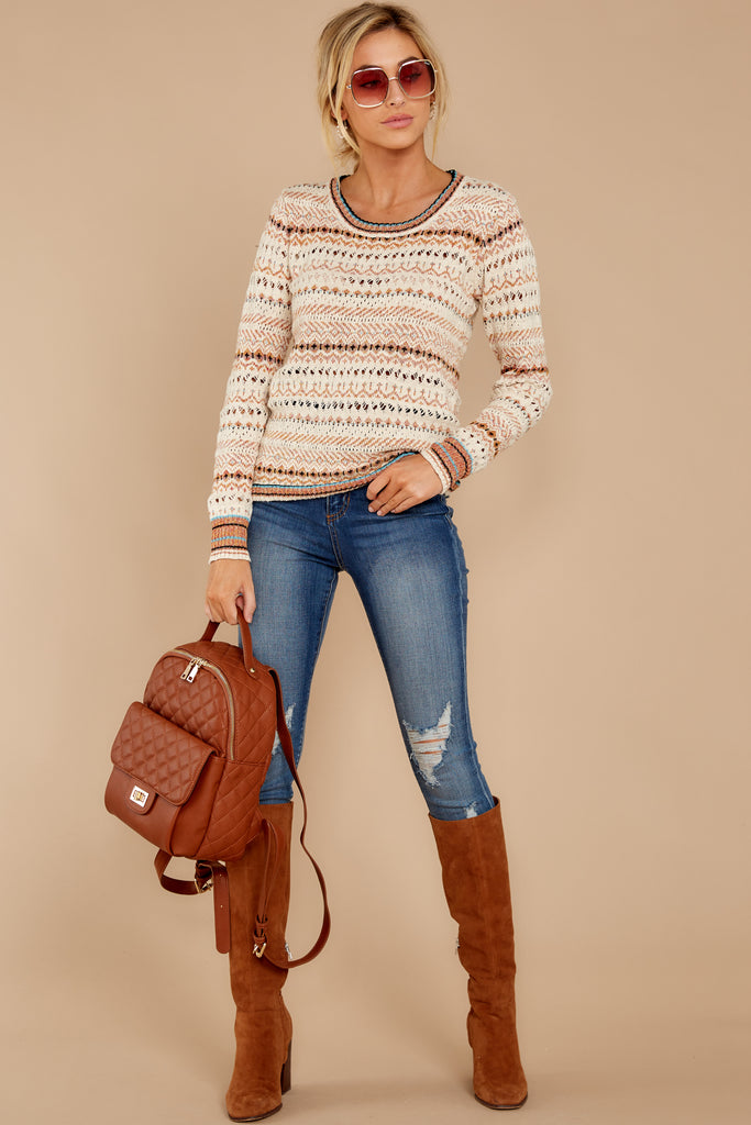 4 Go Where I Want Cognac Brown Backpack at reddressboutique.com