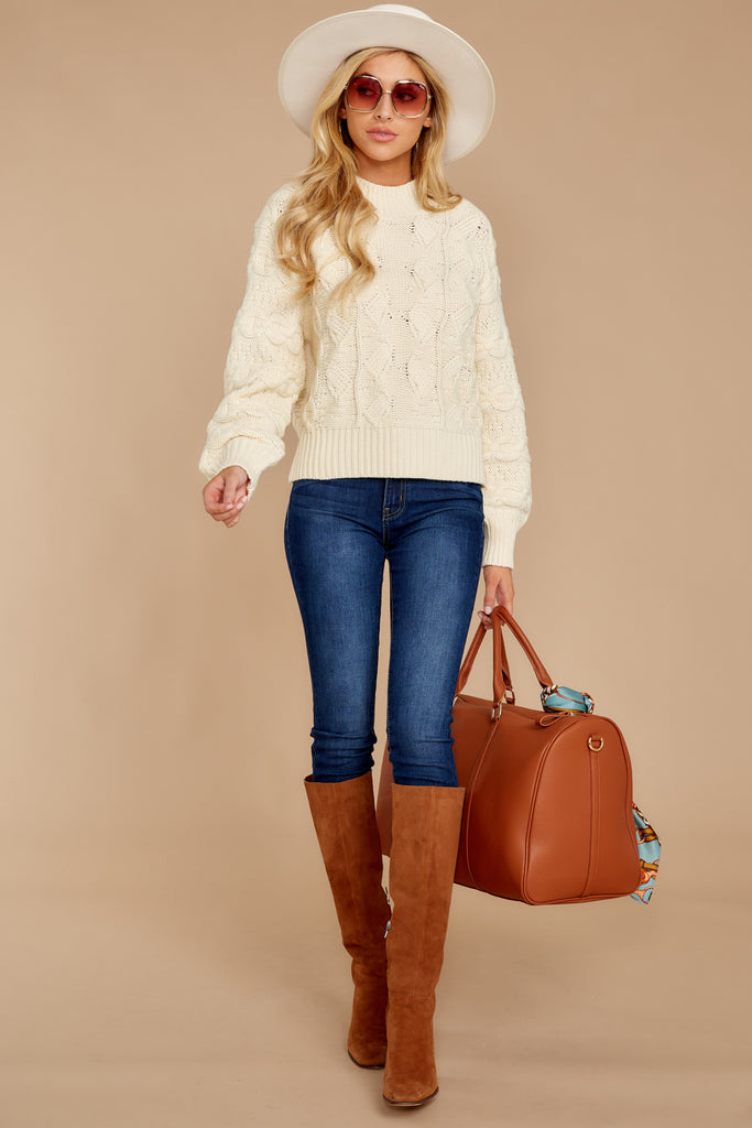 1 Total Control Cream Sweater at reddressboutique.com