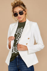 Major Moment White Blazer