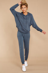 4 The Dark Slate Premium Fleece Relaxed Jogger at reddressboutique.com