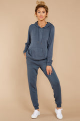5 The Dark Slate Premium Fleece Relaxed Jogger at reddressboutique.com