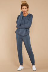 6 The Dark Slate Premium Fleece Relaxed Jogger at reddressboutique.com